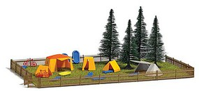 Busch Campground with Tents and Accessories 9-1/16 x 5-7/8  23 x 15cm