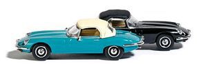 Busch 1961 Jaguar E-Type Convertible Top Up, Various Colors HO Scale Model Railroad Vehicle #9838120
