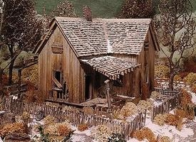Campbell Abandoned House Kit HO Scale Model Railroad Building #393