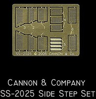 Cannon HO Side Step Set for Athearn MP15AC (Photo-Etch)