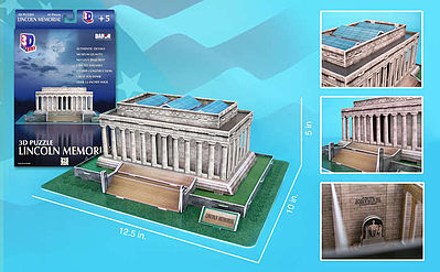 Cubic Fun Lincoln Memorial (Washington DC, USA) (42pcs) -- 3D Jigsaw Puzzle -- #104