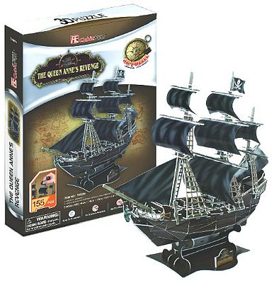 Cubic Fun Queen Anne's Revenge Pirate Ship 3D Foam Puzzle (155pcs) -- 3D Jigsaw Puzzle -- #4005