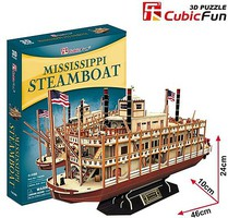 Cubic Mississippi Paddle Wheel Steamboat 3D Foam Puzzle (142pcs)