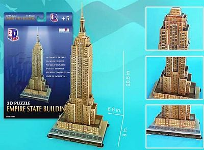 Cubic Fun Empire State Building (New York, USA) (55pcs) -- 3D Jigsaw Puzzle -- #48