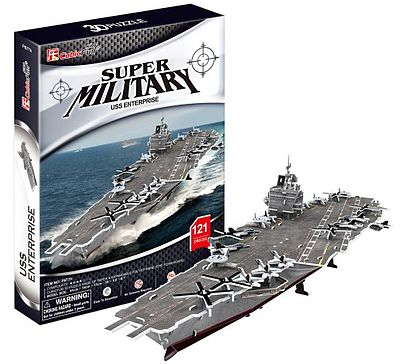 Cubic Fun USS Enterprise Aircraft Carrier 3D Foam Puzzle (121pcs) -- 3D Jigsaw Puzzle -- #677