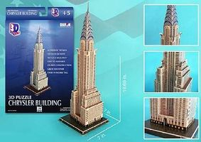 Cubic Chrysler Building (New York, USA) (70pcs) 3D Jigsaw Puzzle #75