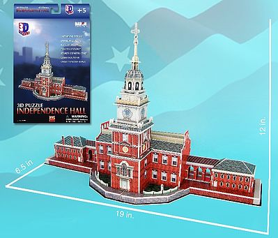 Cubic Fun Independence Hall (Philadelphia, Pa, USA) (43pcs) -- 3D Jigsaw Puzzle -- #85