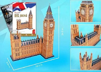 Cubic Fun Big Ben (London, England) (116pcs) -- 3D Jigsaw Puzzle -- #87