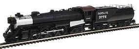 Con-Cor Steam S-2 4-8-4 Northern with Tender Santa Fe Cab #3 N Scale Model Train #1003815