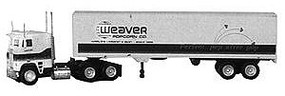 Con-Cor Weaver Popcorn Semi with 40 Trailer Model Railroad Vehicle HO Scale #1022
