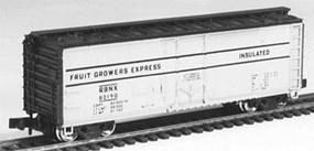 Con-Cor 40 Steel Reefer Fruit Growers Express N Scale Model Train Freight Car #105102
