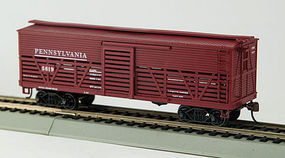 Con-Cor OT Cattle Car Pennsylvania RR HO Scale Model Train Freight Car #1052032