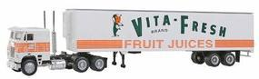 Con-Cor Semi Truck with 48 Vita Fresh Fruit Juice HO Scale Model Railroad Vehicle #1069