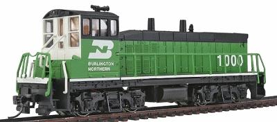 Con-Cor EMD MP15 with DCC Burlington Northern #1000 -- Model Train Diesel Locomotive -- HO Scale -- #1165101