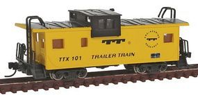 Con-Cor Extended-Vision Caboose TTX N Scale Model Train Freight Car #14157
