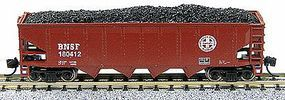 Con-Cor 75-Ton 4-Bay Open Hopper with Load Santa Fe N Scale Model Train Freight Car #14489