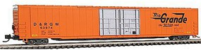 Con-Cor 85 4-Door Hi-Cube Boxcar Denver & Rio Grande N Scale Model Train Freight Car #14666