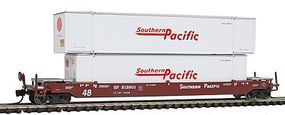 Con-Cor 125-Ton Husky Stack Intermodal Well Car with Containers N Scale Model Train Freight Car #14722