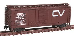 Con-Cor 40 Double Door Plywood Box Car Central Vermont N Scale Model Train Freight Car #15063