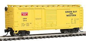 Con-Cor 40 Combination Door Box Car Green Bay & Western N Scale Model Train Freight Car #15066