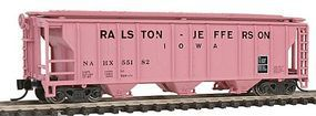 Con-Cor 40 PS-2 Pink Covered Hopper Ralston-Jefferson N Scale Model Train Freight Car #15124