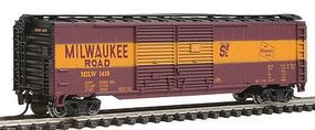 Con-Cor 50 Double-Door Express Box Car Miwlaukee Road N Scale Model Train Freight Car #15216