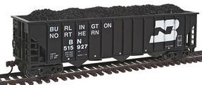 Con-Cor Burlington Northern 100-Ton 12-Panel 3-Bay Hopper HO Scale Model Train Freight Car #19306