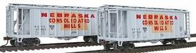 Con-Cor GATX Airslide Hopper 2-Pack Nebraska Consolidated Mills HO Scale Model Freight Car #197009