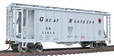 Con-Cor GATX Airslide Covered Hopper Great Northern -- HO Scale Model Train Freight Car -- #197057