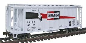 Con-Cor GATX Airslide Covered Hopper Champion Spark Plugs HO Scale Model Train Freight Car #197062