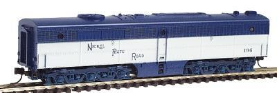 Con-Cor Diesel ALCO PB-1 Cabless B Unit Dummy Nickel Plate Road -- N Scale Model Train -- #202052