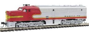 Con-Cor Diesel ALCO PA1 Unpowered Santa Fe Warbonnet N Scale Model Train #202102