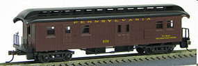 Con-Cor 1880s Wood Open-Platform Baggage-RPO Pennsylvania Railroad HO Scale Model Passenger Car #324