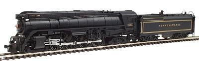 Con-Cor Steam 4-8-4 with Coal Bunker Tender Pennsylvania #8752 -- N Scale Model Train -- #3883