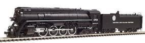 Con-Cor Steam 4-8-4 with Coal Bunker Tender Denver & Rio Grande #1804 N Scale Model Train #3896