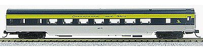 Con-Cor 85' Smooth-Side Coach Chesapeake & Ohio -- N Scale Model Train Passenger Car -- #40041