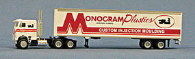 Con-Cor 18 Wheeler Monogram Plastics HO Scale Model Railroad Vehicle #4009602