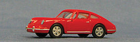 Con-Cor Porsche 911 Sportster 1966 (red) HO Scale Model Railroad Vehicle #4035