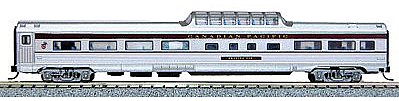 Con-Cor Budd 85' Corrugated-Side Mid-Train Dome Canadian Pacific -- N Scale Model Passenger Car -- #41360
