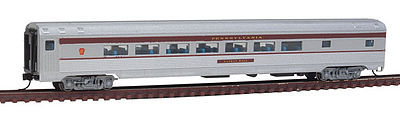 Con-Cor Budd Parlor Car Pennsylvania RR -- N Scale Model Train Passenger Car -- #41403