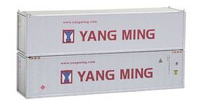 Con-Cor 40 Hi-Cube Container 2-Pack Yang Ming Set #2 N Scale Model Train Freight Car #443002