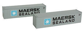 Con-Cor 40 Container Maersk #2 N Scale Model Train Freight Car #443018
