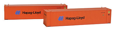 Con-Cor 45' Container Hapag Lloyd (2)) -- N Scale Model Train Freight Car Load -- #444114