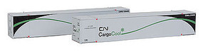 Con-Cor 53 Container Canadian National Cargo #2 (2) N Scale Model Train Freight Car Load #453208
