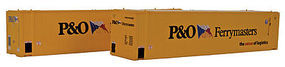 Con-Cor 45 RS Container P&O Ferry (2) HO Scale Model Train Freight Car Load #483562