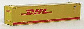 Con-Cor 45 RS Container DHL Exp #1 (2) HO Scale Model Train Freight Car Load #483569