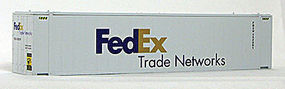 Con-Cor 45 RS Container FedEx #1 (2) HO Scale Model Train Freight Car Load #483571