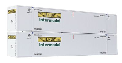 Con-Cor 53' Sheet/Post Rivet Container JB Hunt Intermodal Set #1 -- HO Scale Model Freight Car -- #488008