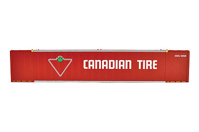 Con-Cor 53' Sheet/Post Rivet Side Container Canadian Tire Set #1 -- HO Scale Model Freight Car -- #488010