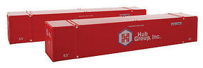 Con-Cor 53 HC Container Hub Red #2 HO Scale Model Train Freight Car Load #488030